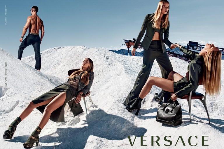 New Versace S/S 2016 Gigi Hadid  Medusa Runway Ad Heels Platform Pumps Sz 36.5 For Sale 12