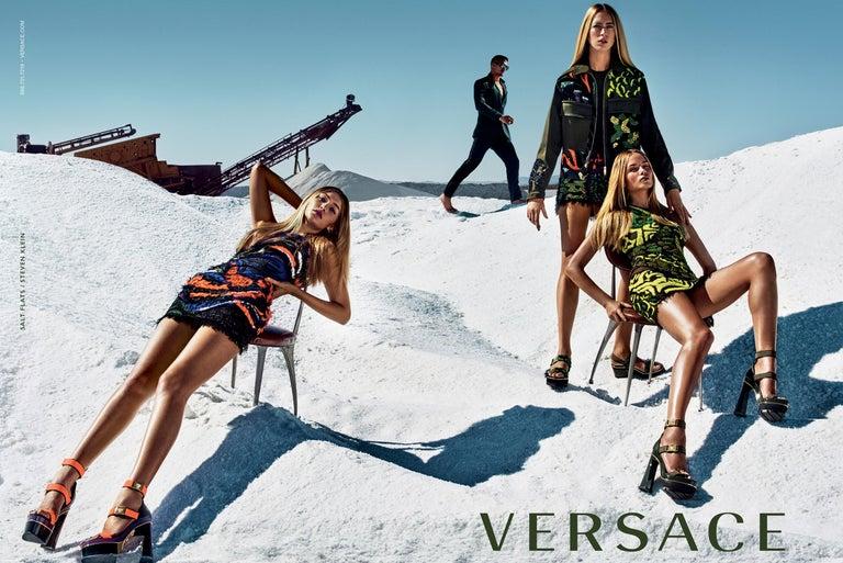 New Versace S/S 2016 Gigi Hadid  Medusa Runway Ad Heels Platform Pumps Sz 36.5 For Sale 1