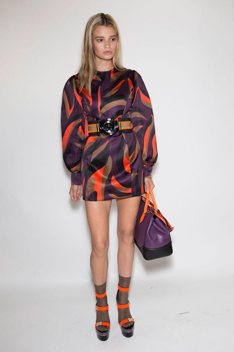 New Versace S/S 2016 Gigi Hadid  Medusa Runway Ad Heels Platform Pumps Sz 36.5 For Sale 2