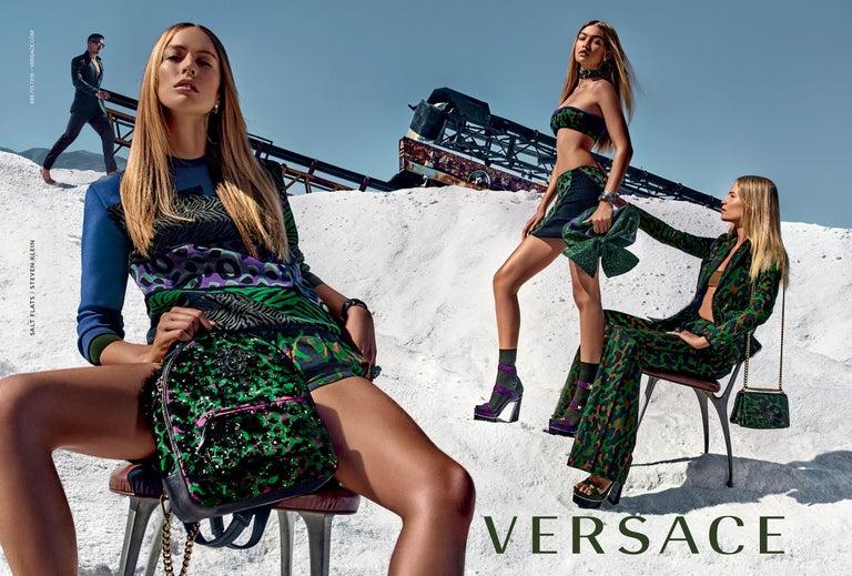 New Versace S/S 2016 Gigi Hadid  Medusa Runway Ad Heels Platform Pumps Sz 36.5 For Sale 4