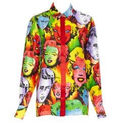 new VERSACE SS18 Runway Tribute pop art Marilyn Monroe James Dean shirt IT42 M