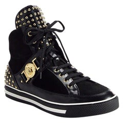 NEW VERSACE STUDDED HIGH-TOP Sneakers 42.5 - 9.5