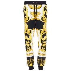 new VERSACE Tribute Baroque SS1992 gold black Cherub Medusa jogger pants 3XL