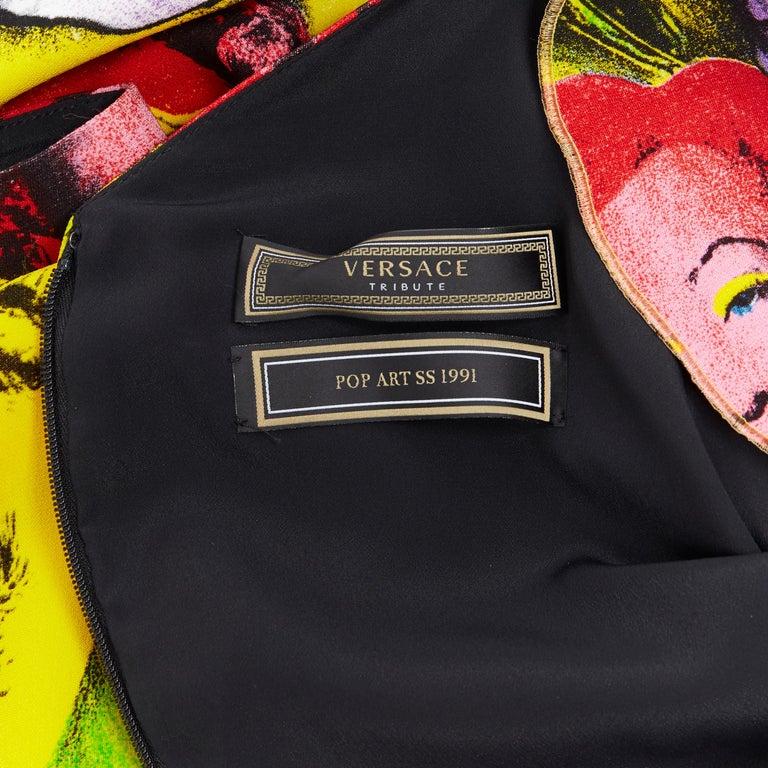 new VERSACE Tribute SS18 Runway Pop Art SS1991 Monroe Dean print dress IT40 S For Sale 5
