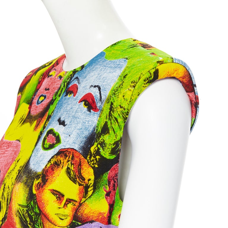 new VERSACE Tribute SS18 Runway Pop Art SS1991 Monroe Dean print dress IT40 S Brand: Versace Designer: Donatella Versace Collection: Spring Summer 2018 As seen on: Irina Shayk Model Name / Style: Print dress Material: Viscose Color: