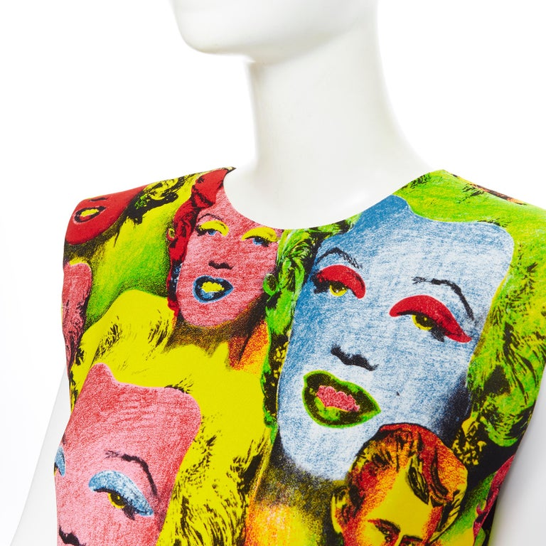new VERSACE Tribute SS18 Runway Pop Art SS1991 Monroe Dean print dress IT40 S For Sale 3
