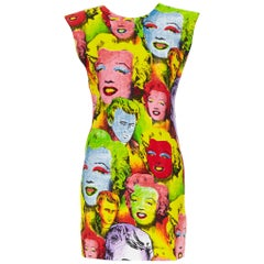 new VERSACE Tribute SS18 Runway Pop Art SS1991 Monroe Dean print dress IT40 S