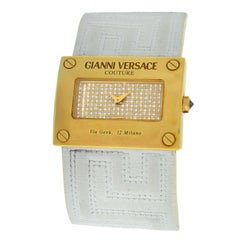 New Versace V-Couture Limited Ed. 18 Karat Gold Diamond Quartz Watch