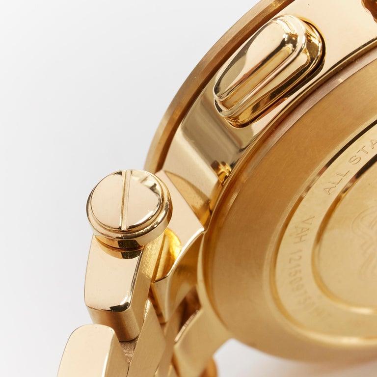 Men's new VERSACE V-Race Sport Gold gold stainless steel quartz analog men's watch For Sale