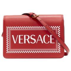new VERSACE Vintage Logo 90's Box supreme flap front crossbody shoulder bag