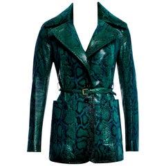 New Very Rare Gucci 90th Anniversary Python Snakeskin Jacket Coat Blazer $14,650