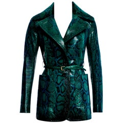 New Very Rare Gucci 90th Anniversary Python Snakeskin Jacket Coat Blazer $14,650