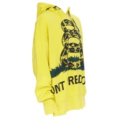 new VETEMENTS Demna Gvasalia Don't Tread On Me Snake fleece oversized hoodie S