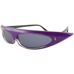 New Vintage Alain Mikli 0104631 Grace Jones Made in France Sunglasses 1980's