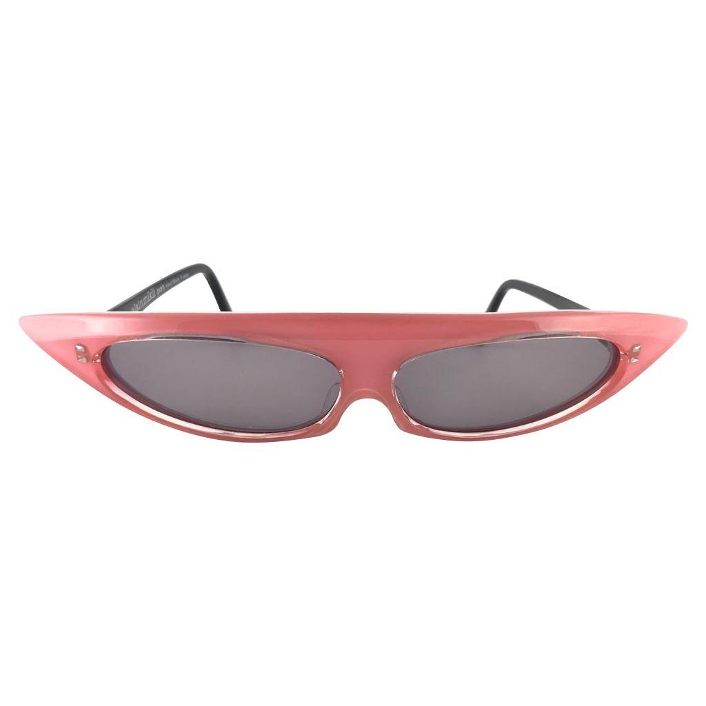 New Vintage Alain Mikli 0104631 Rose Grace Jones  France Sunglasses 1980's