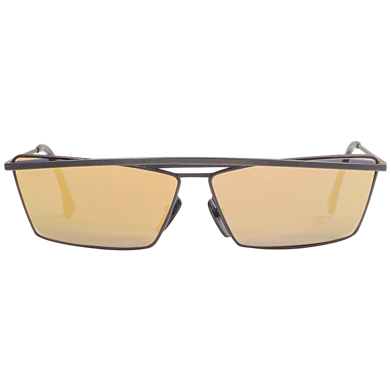 New Vintage Alain Mikli Black Matte AM89 622 Made in France Sunglasses 1980's
