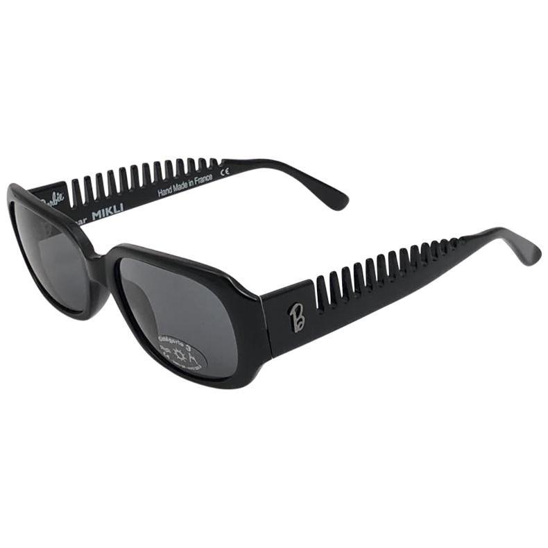 New Vintage Alain Mikli for Barbie Black 405 Made in France Sunglasses 1980's