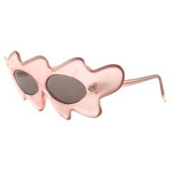 New Vintage Alain Mikli Light Rose Made in France Sunglasses 1980's