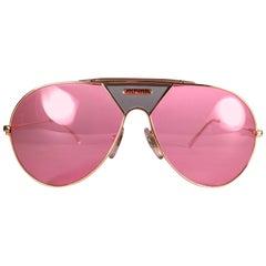 New Vintage Alpina TR4 Aviator Gold & Green Miami Vice Don Johnson Sunglasses