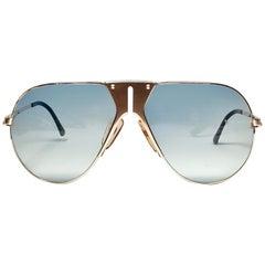 New Vintage Boeing by Carrera Aviator Gold Blue Lens Sunglasses Austria