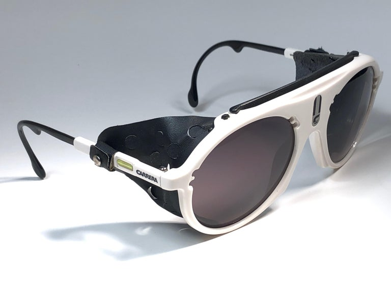 Black New Vintage Carrera Aviator 5436 White Ski Sunglasses Austria For Sale