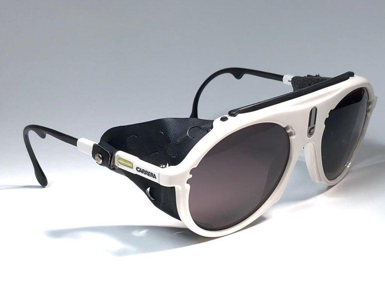 Men's New Vintage Carrera Aviator 5436 White Ski Sunglasses Austria For Sale