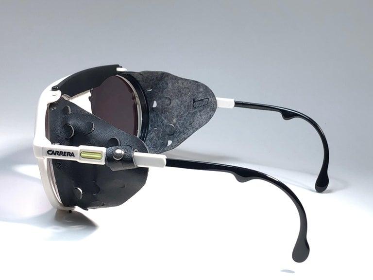 New Vintage Carrera Aviator 5436 White Ski Sunglasses Austria For Sale 1