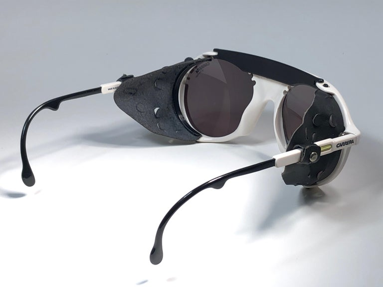 New Vintage Carrera Aviator 5436 White Ski Sunglasses Austria For Sale 2