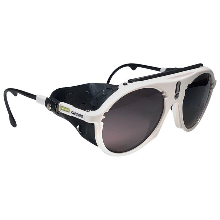 New Vintage Carrera Aviator 5436 White Ski Sunglasses Austria For Sale