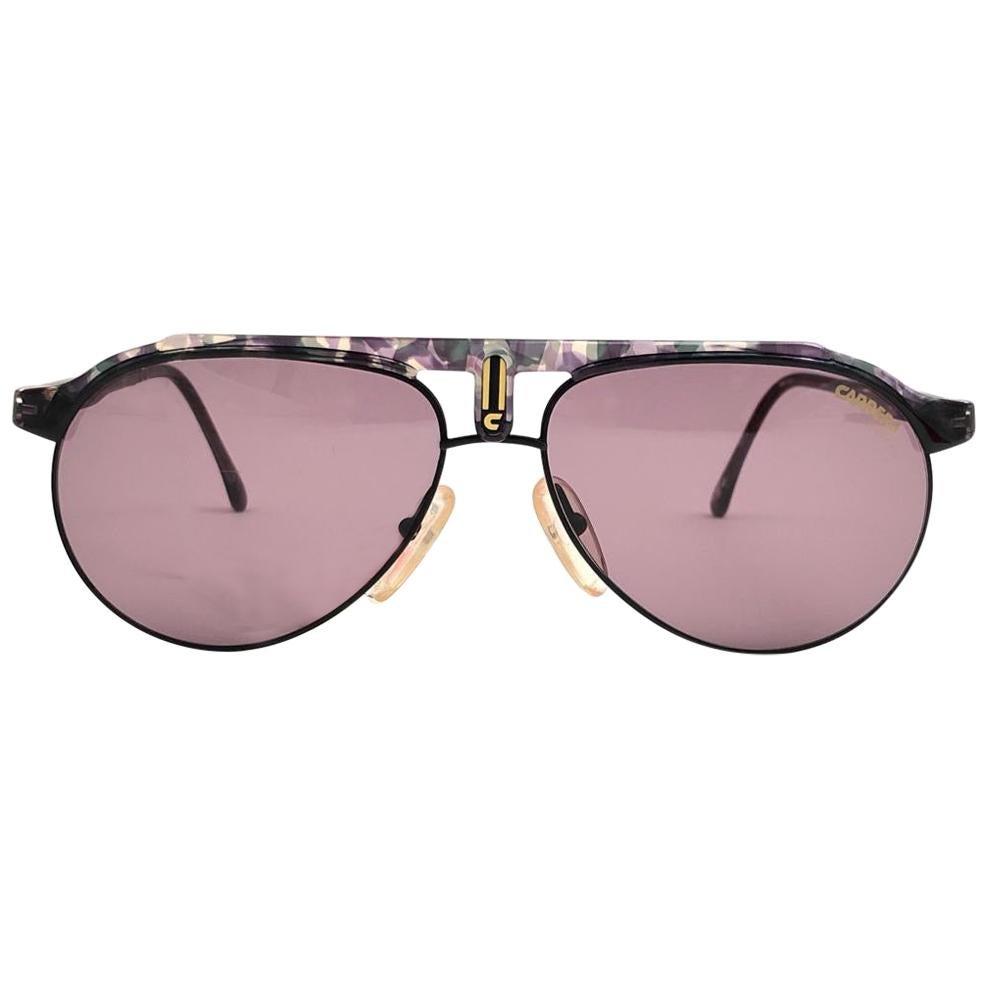 New Vintage Carrera Aviator Black 5478 Sportsglasses Sunglasses Made in Austria