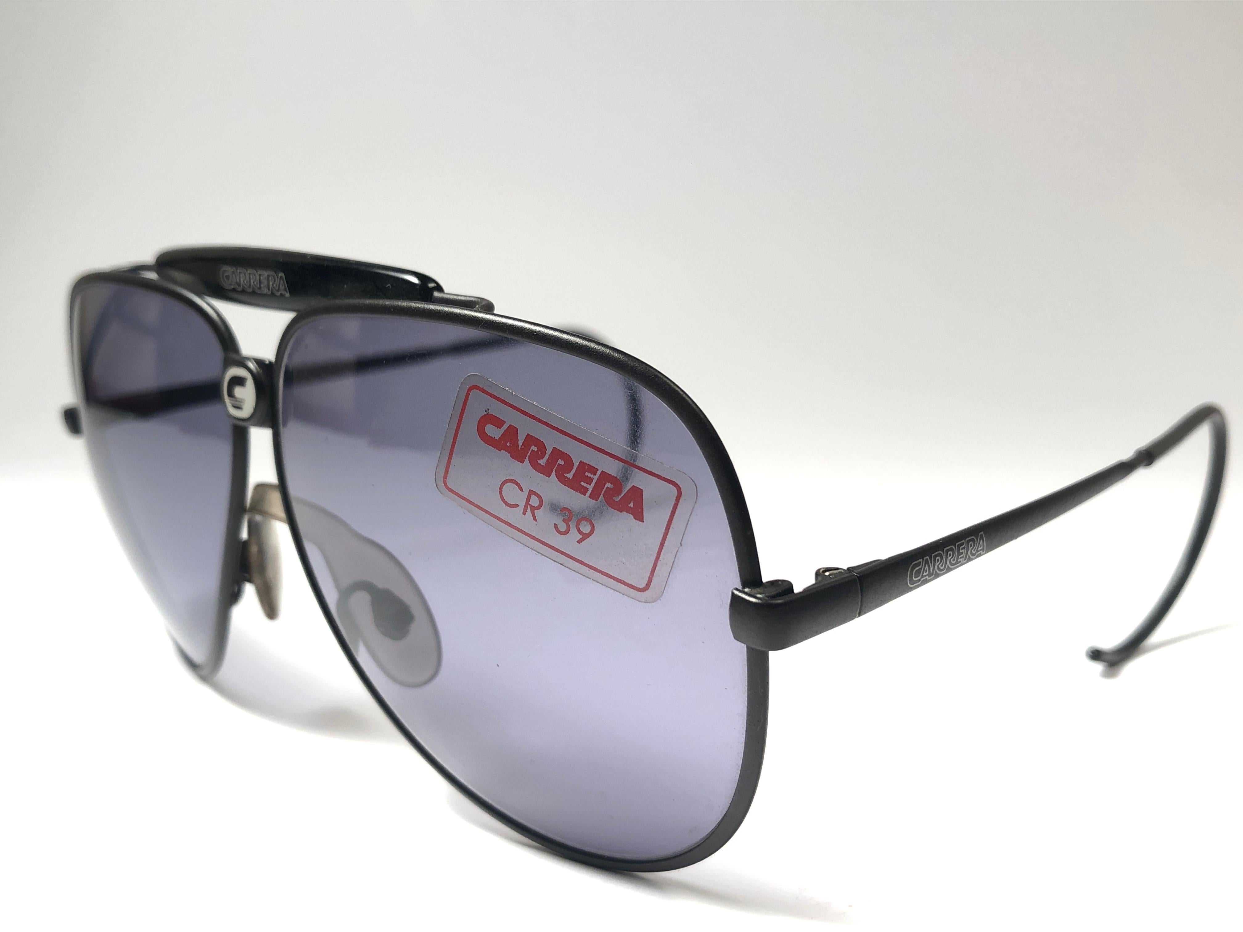 71a30b2d79cff New Vintage Carrera Aviator Oversized 5543 Black Large 1970 s Sunglasses  Austria For Sale at 1stdibs