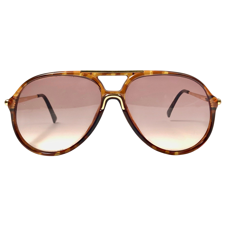 New Vintage Carrera by Movado 5451 Tortoise Sunglasses Austria 1980
