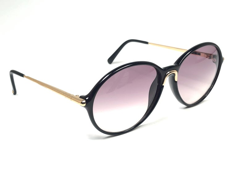 New Vintage Carrera by Movado 5453 Black Sunglasses Austria 1980 In New Condition For Sale In Amsterdam, Noord Holland