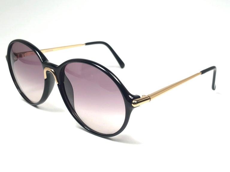 Men's New Vintage Carrera by Movado 5453 Black Sunglasses Austria 1980 For Sale