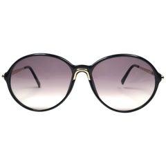 New Vintage Carrera by Movado 5453 Black Sunglasses Austria 1980