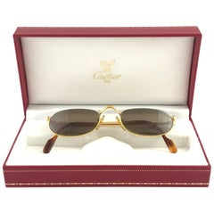 New Vintage Cartier Demilune Half Frame Medium Reading France Sunglasses