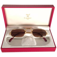 New Vintage Cartier Demilune Vendome Medium Reading France Sunglasses