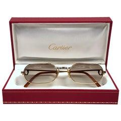 New Vintage Cartier Must Santos Medium 55mm France Sunglasses