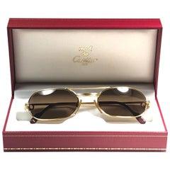 New Vintage Cartier Must Vendome Medium 55mm France Sunglasses