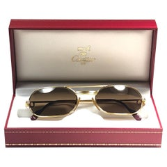New Vintage Cartier Must Vendome Medium 55mm France Sunglasses