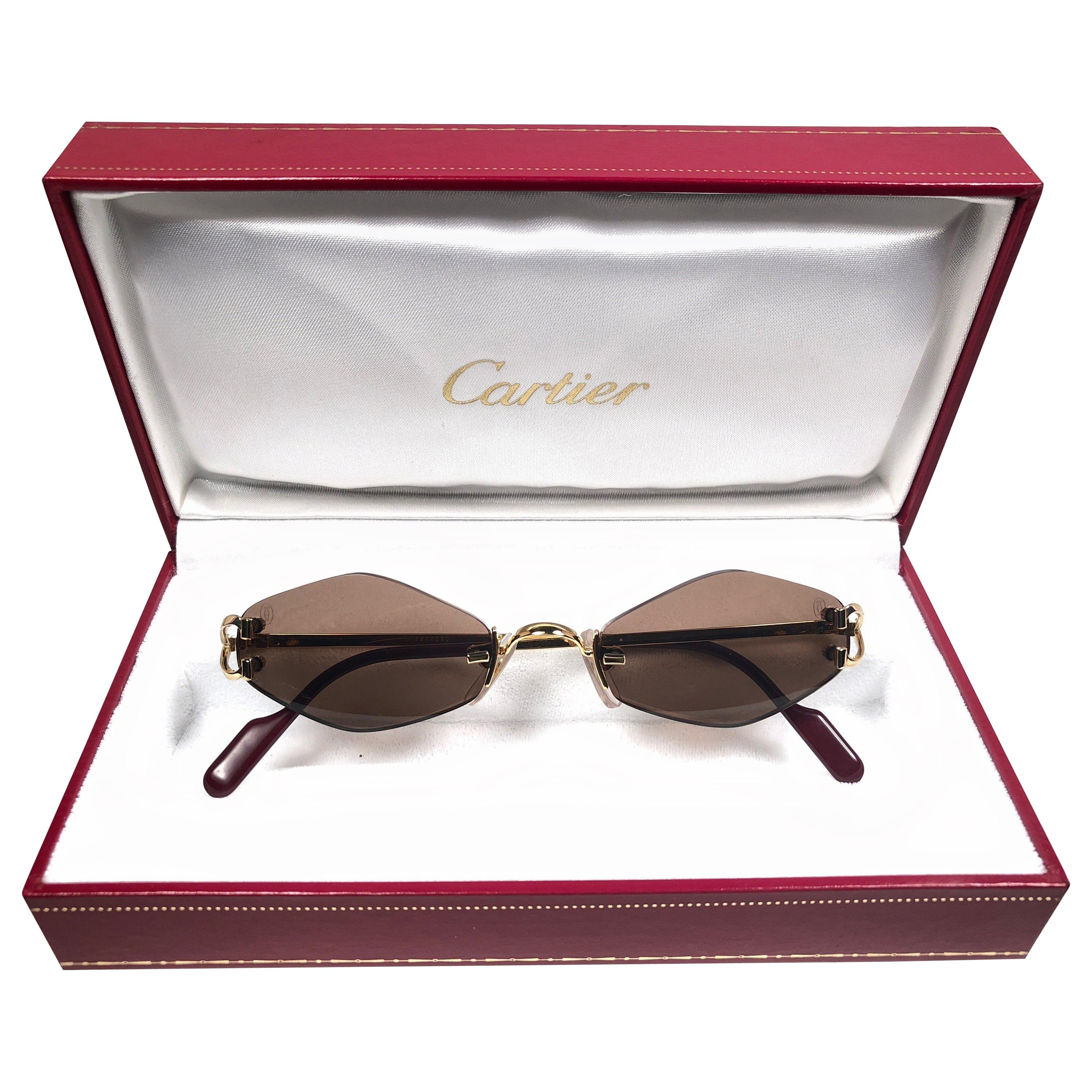373fa88f1b96f Vintage Cartier Sunglasses - 156 For Sale at 1stdibs