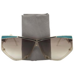 New Vintage Cazal 381 Translucent Frame Collector Item 1980's Sunglasses