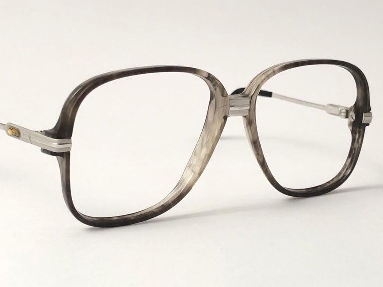 New Vintage Cazal 620 Marbled & Silver Frame Reading 1980's Sunglasses In New Condition For Sale In Amsterdam, Noord Holland