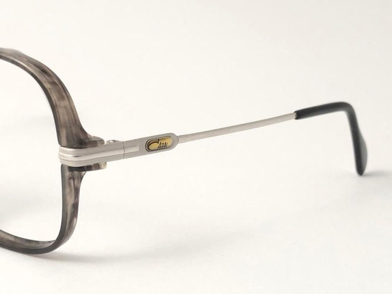 Women's or Men's New Vintage Cazal 620 Marbled & Silver Frame Reading 1980's Sunglasses For Sale