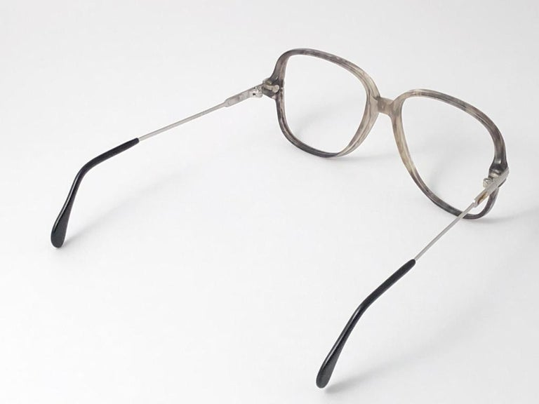 New Vintage Cazal 620 Marbled & Silver Frame Reading 1980's Sunglasses For Sale 3