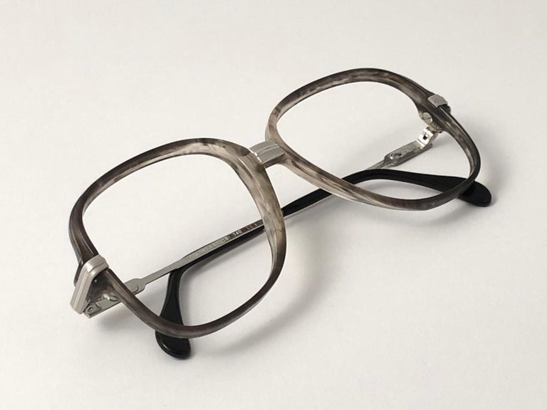 New Vintage Cazal 620 Marbled & Silver Frame Reading 1980's Sunglasses For Sale 4