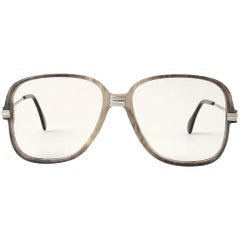 New Vintage Cazal 620 Marbled & Silver Frame Reading 1980's Sunglasses