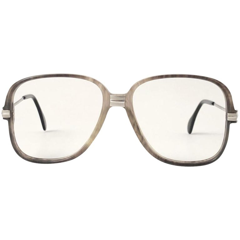 New Vintage Cazal 620 Marbled & Silver Frame Reading 1980's Sunglasses For Sale