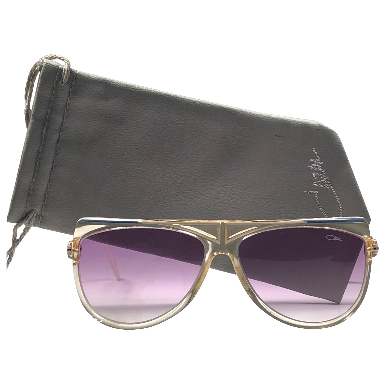 New Vintage Cazal 855 Translucent Frame Collectors Item 1980's Sunglasses