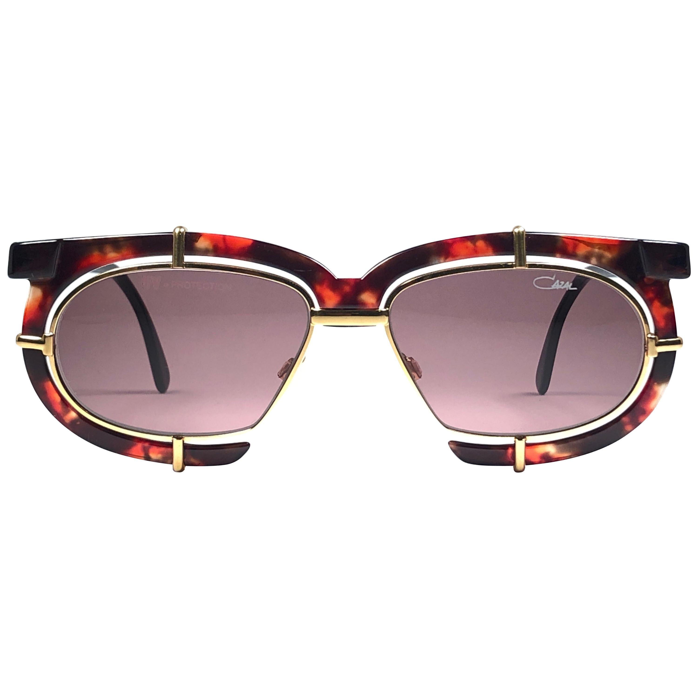 New Vintage Cazal 871 725  Tortoise Gold Frame 1980's Sunglasses